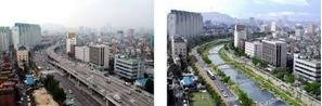 Cheonggyecheon Restoration (credit: www.globalrestorationnetwork.org)