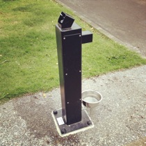A new drinking fountain installed at Vermont Reserve. Note the dog drinking bowl.