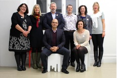 l to r: (back row) Deborah Yates, Greg Moyle, Christopher Dempsey, Deputy Chair Pippa Coom, Renee Tanner, (front row) Vernon Tava, Kaye Glamuzina