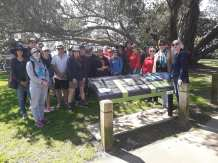 A great turn out of 25 members of the public at the Point Erin starting point. Photo: Pippa Coom